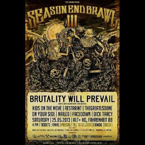 25th May season end brawl 3 !!! @restraintmyhc @kidsonthemovehc and macam2 lagi jamuan di sediakan!