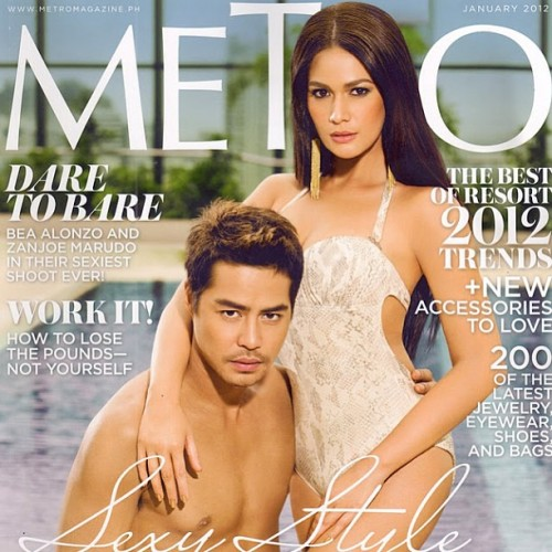 @beaalonzo wearing #keirahairextensions #clipons on the cover of @metromagph ! #hair by #brensales #summerlovin #throwbackthursday