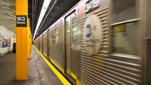 (via MTA New York City Subway: C train whooshing by.)