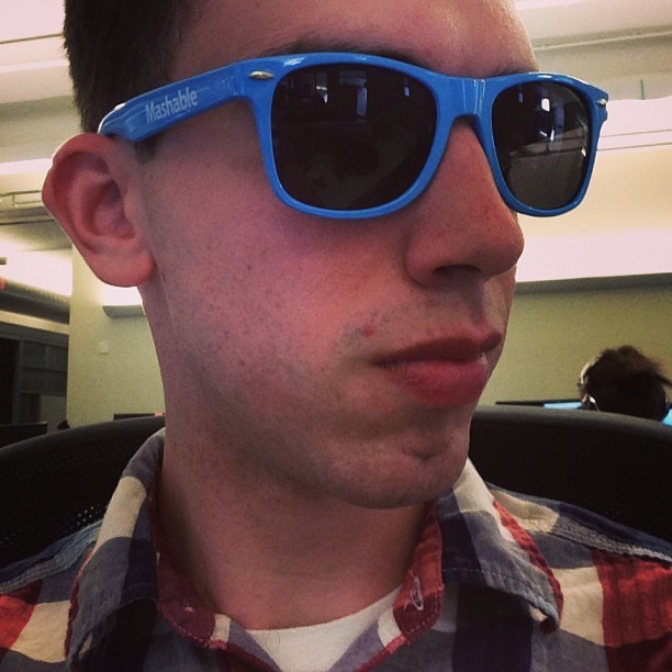 New #mashable shades 'cause my future so bright.  (at Mashable HQ)