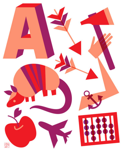 My new illustration, A is for…