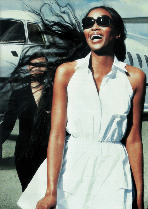 "Naomi Campbell in ""Kicking It"" photographed by Norman Jean Roy for US Vogue, May 2009"