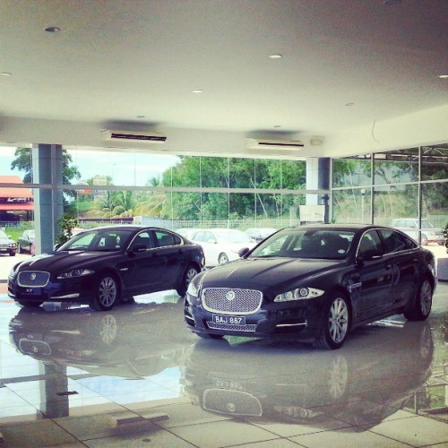 Jaguar XF & XF. Gorgeous luxury in a league of its own. Damn how I wish.. #inderamotors #jaguar #jaguarbrunei #gorgeous #giwrides #brunei #xf #xj  (at Indera Motors (Jaguar Showroom))