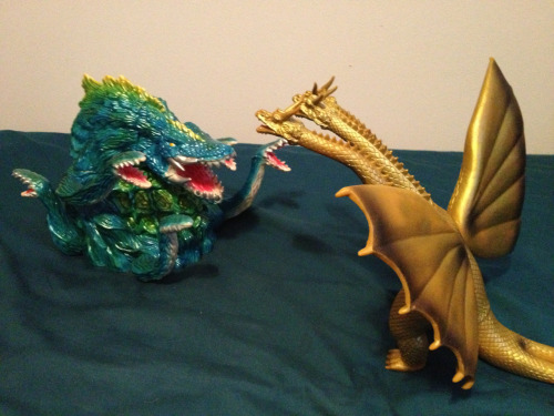 "Vinyl Kaiju Legion is having a ""dream match"" week. Here's one if my submissions."