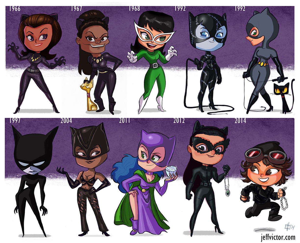 A tribute to one of the greatest comic characters of all time: Catwoman! I can't decide who I like better- Michelle Pfeiffer or Julie Newmar. Which Catwoman is your favorite?