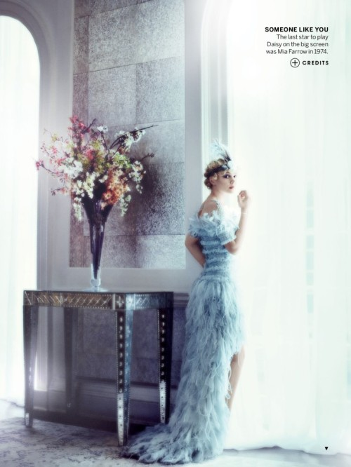 Beautiful Blue  VOGUE US May 2013 - Great Expectations M) Carey Mulligan / P) Mario Testino