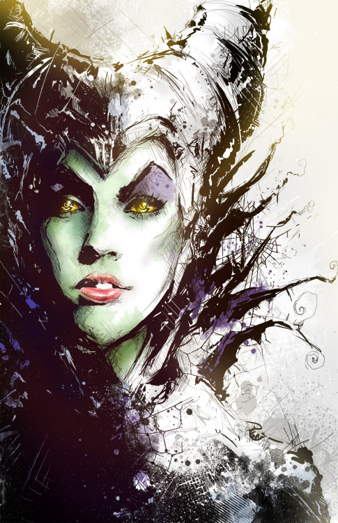 superpuppet:  Maleficent by Vincent Vernacatola   She always was the coolest villain.