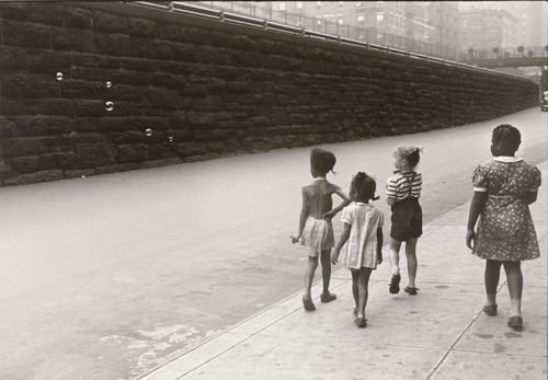 """Childen with Soap Bubbles,"" by Helen Levitt, New York, 1945."