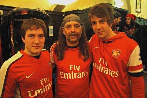 Me with my friend and ArsenalFan legend #Bully in Munich on 13/3/2013
