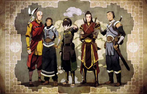envious-aly:  I really love this picture of the main chars in Avatar as adults c: