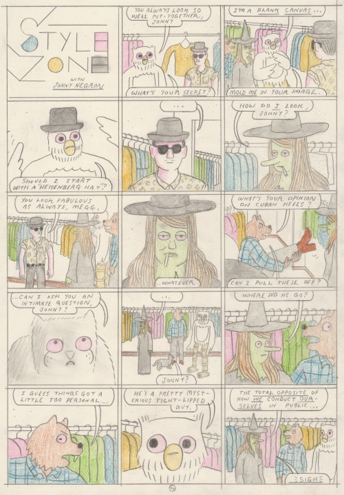 "comicsworkbook:  Simon Hanselmann ""Truth Zone 66"" Made for Comics Workbook"