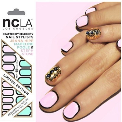 "Create your own #OutlineNail design customizing @MPNails ""Orbit Ring"" #nailwraps by @shopncla x @nailinghwood $16 www.shopncla.com #nclaxnailinghollywood"