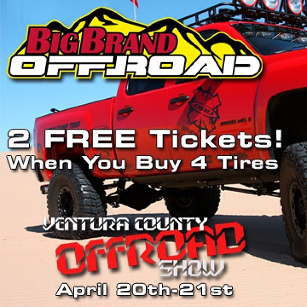 2 Free Tickets! Ventura County Off Road Show April 20-21 http://ow.ly/k7A0Q #bigbrandoffroad #venturaoffroadshow