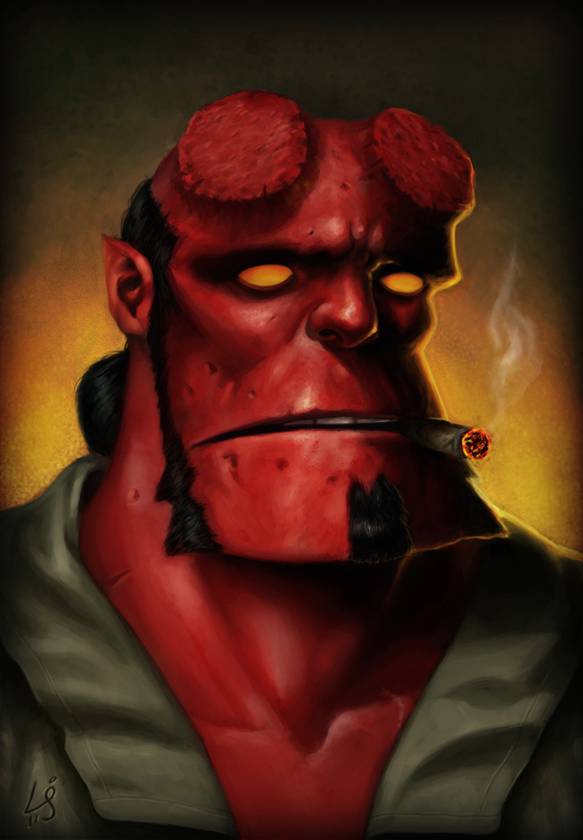 Hellboy by Laura Jean