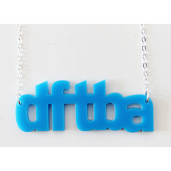 karenkavett:  fishingboatproceeds:  dftba necklaces, created by the brilliant Karen Kavett, are on sale at dftba.com, and boy are they an adorable way to remind yourself to be awesome.  Thanks John! Remember, if you order more than one, use the code KAREN10 to get 10% off!  Oooh we have codes now?! Fancy! Use the code!