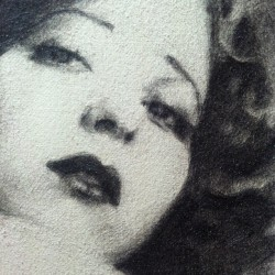 Miss Clara Bow is super fun to draw. #art #drawing #noramaha #artistsoftumblr #ilovecottonpaper