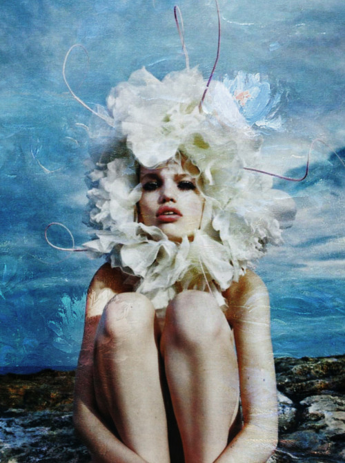 stevensmizel:  En Vogue l'Été, Daphne Groeneveld by Mario Sorrenti for Vogue Paris x Monet's Water Lilies
