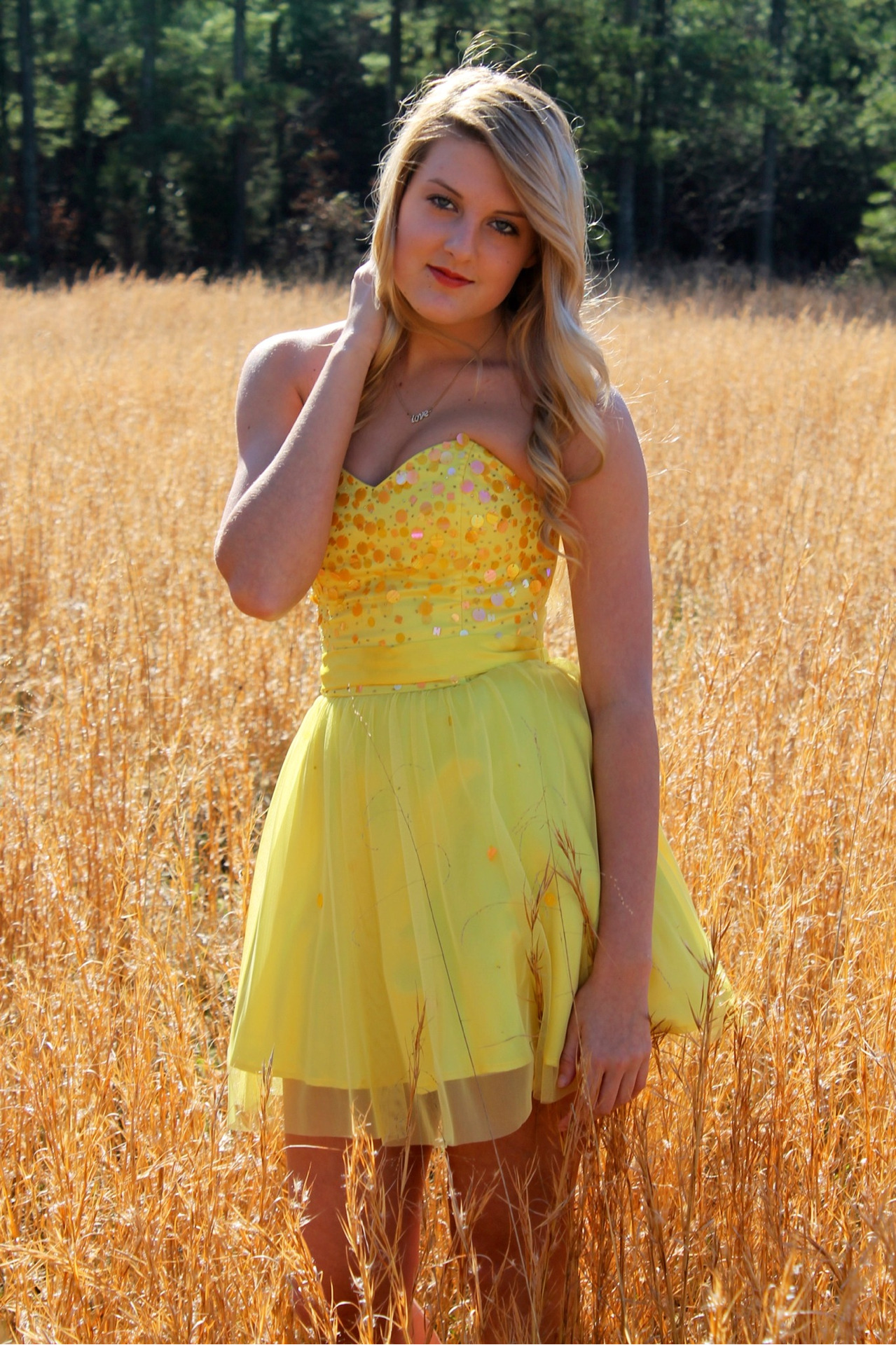 #yellow #dress #tumblr #girl #field #randomhashtags #photography