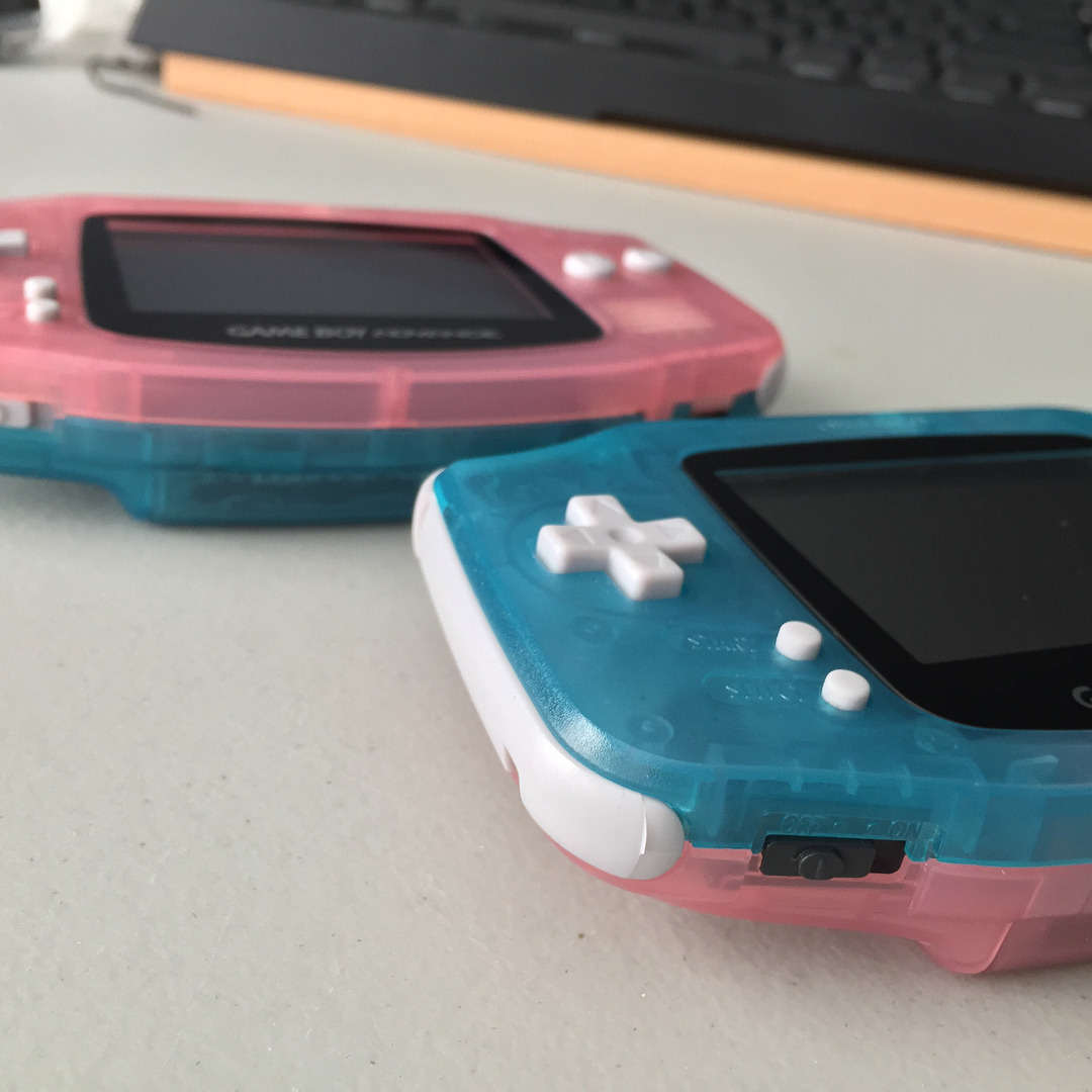 Sadly gotta let these beauties go :(. They are official fushia shells mixed with the one of a kind hylian blue shells from @rosecoloredgaming. Both have been cleaned as well. Hylian blue top has a glass screen. Neither are backlit. Asking $70 each or $130 for both. Price includes shipping in US. PayPal only #shutupandtakemymoney #iwantitnow #customgba #gameboyadvance #custom #customgameboys #nintendo