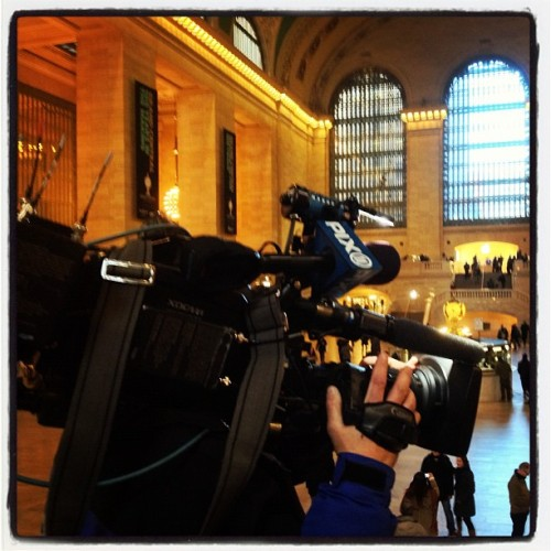 The PIX11 morning crew was at Grand Central Terminal to tape a segment on the building's secrets. Watch it tomorrow morning on the PIX11 Morning News. #pix11news #pixnyc #gct100