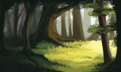 catderps:  Environment practice. My main focus was on light and shadows, and how they interact. Speed painting, so not much detail. :) About 2hrs in photoshop.