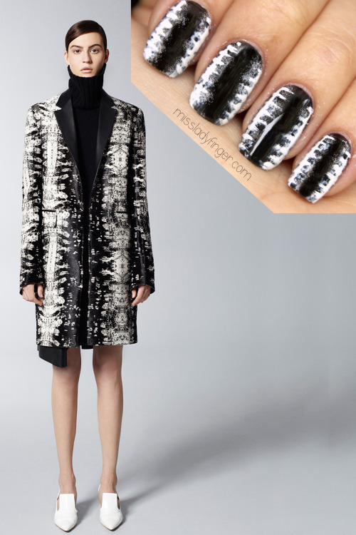 MANICURE MUSE: Reed Krakoff Pre-Fall '13 The perfect winter mix: Reed Krakoff and the Ladyfinger. Today on MLF.