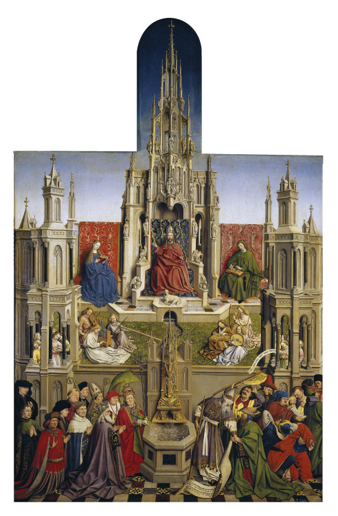 Jan van Eyck - The Fountain of Grace and the Triumph of the Church over the Synagogue; Museo del Prado, Madrid, Spain; 1430