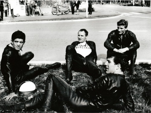 1966 Finnish Grand Prix: Giacomo Agostini, Mike Hailwood, Bill Ivy and Phil Read.