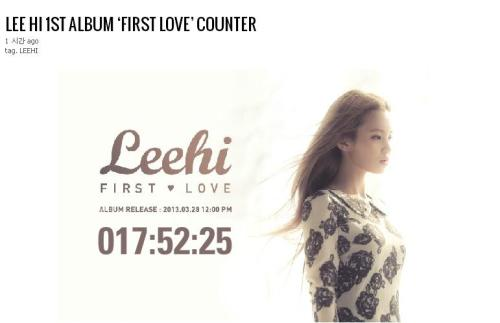 "Lee Hi's 1st Album ""First Love"" Counter See Live Counter - HERE"