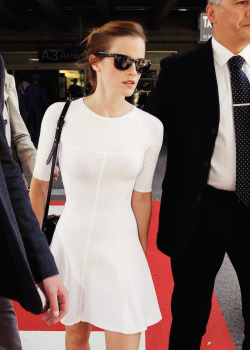 carlynnvictoria:   Emma Watson arriving at Nice Airport in France - May 14, 2013
