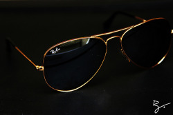 theantiheroes:  New Pickup;14k Gold Ray Ban Aviators.-Rhay.