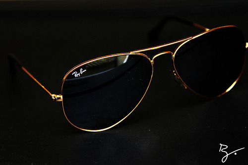 New Pickup;14k Gold Ray Ban Aviators.-Rhay.