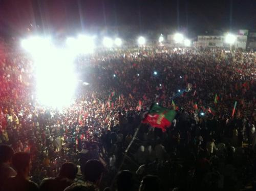 NayaSialkot. NayaPakistan. Pakistan Tehreek e Insaaf's Jalsa in Sialkot. Proud that i was a part of this change. InshAllah. 11th May; Naya Pakistan.