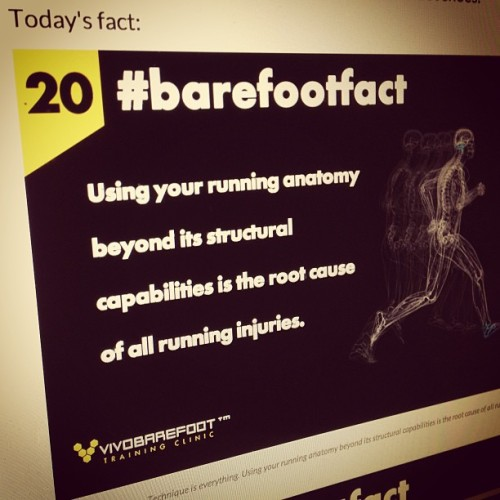 Technique is everything  #barefootfact 20 Using your running anatomy beyond its structural capabilities is the root cause of all running injuries. http://www.vivobarefoot.com/barefoot-facts