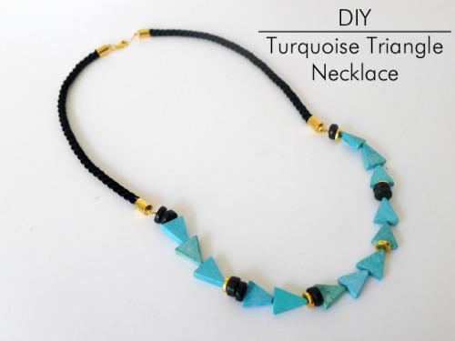 DIY Turquoise Triangle Lizzie Fortunato Necklace from Thanks, I Made It