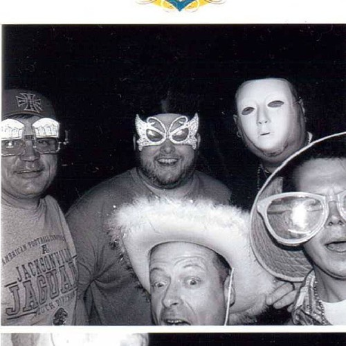 We also goofed around in the photo booth at #beerfestjax last night. I said we looked like the gay version of Slipknot. For some reason my brother hit the black & white button instead of color.