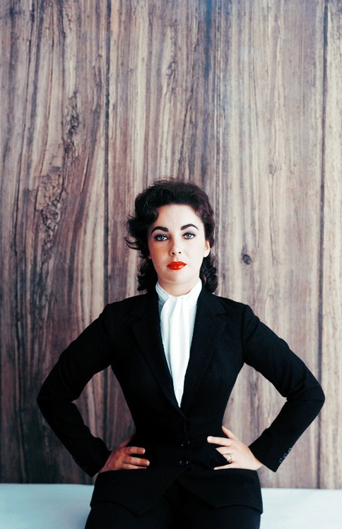 Fashion Muse: Dame Elizabeth Taylor by Mark Shaw, 1956