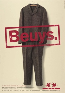 """Bueys. Applied Arts / Contemporary Arts. Mak-Ausstellungshalle"", 2000  By: JOSEPH BEUYS…."