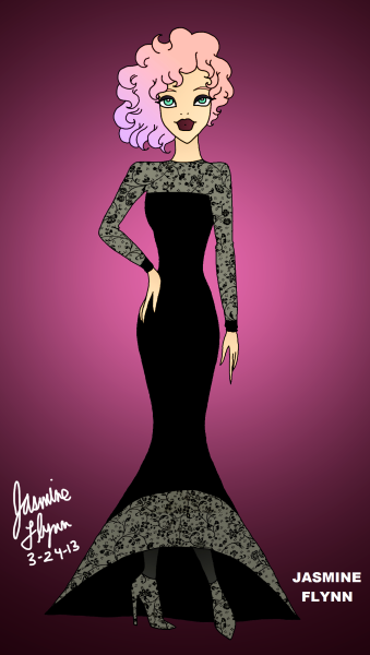 Floral Evening Dress. a digital drawing by me, Jasmine Flynn :)