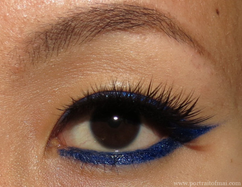 http://www.portraitofmai.com/2013/01/electric-royal-blue-liner-eotd.html