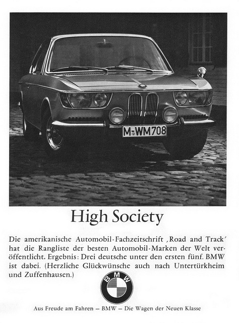 BMW 6er (1966) 2000 CS Coupé Typ 120 High Society by H2O74 on Flickr.BMW 6er (1966) 2000 CS Coupé Typ 120 High Society