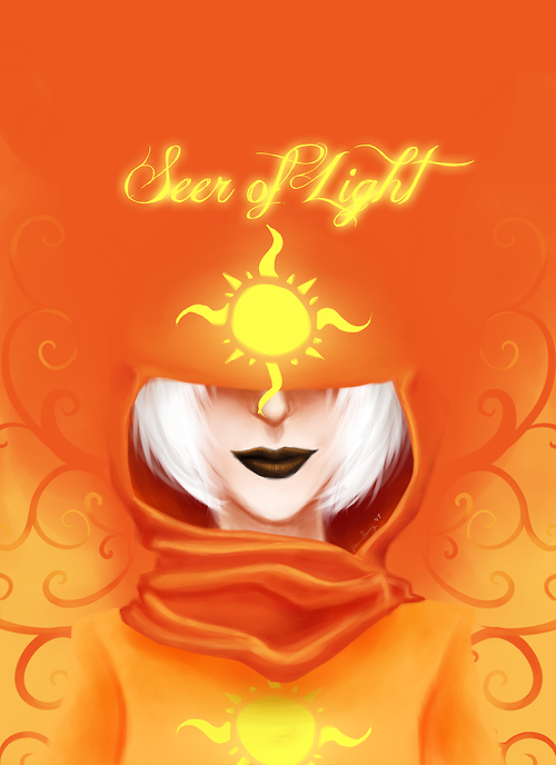 "displacedtimetraveler:  Repainted my ""Seer of Light"" picture from July, and I'm fairly pleased with the results!"