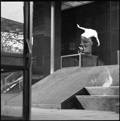 slamcityskates:  Slam Team rider Danny Brady BS 180 nosegrind-Euston. Expect news from the boy soon