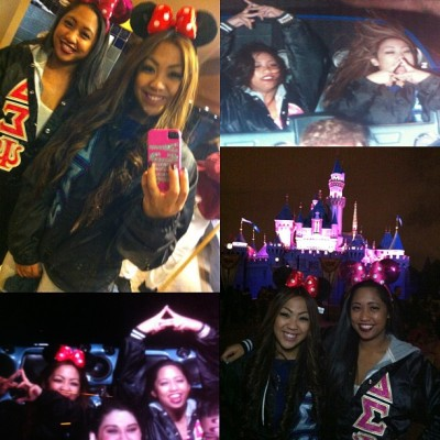 My day at Disney w @SSARAHNICOLE 😘💝 #shesdown #psis4life #welcometotheannualpassclub #11differentridesin5hrs #10minwaitsallday #sarahinthetoprighttho  (at Disneyland)