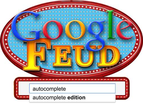 Google Feud is a game I made for the web that lets you play Family Feud against the top ten results in Google's autocomplete. It's harder than you might expect. Check it out and let me know what you think!
