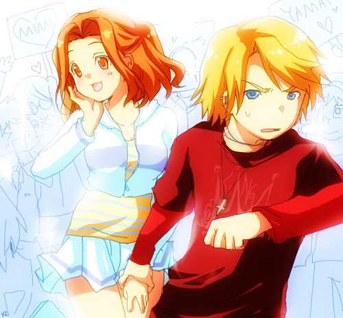 digimentals:  Yamato and Mimi - Fangirls by #digilife-gallery