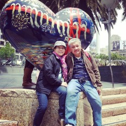 San Francisco; the city of love. Happy belated Mother's day and an early Father's day. #parents #sanfrancisco
