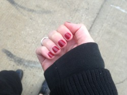got my nails done for our mad men party.