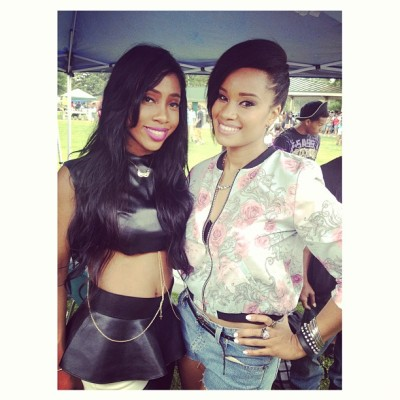 The beautiful @sevynstreeter and I after our sets at Mayfest.