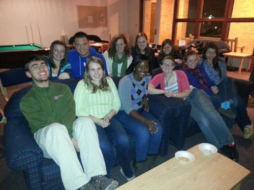 Harry Potter Movie Night for rush!!! :D This was a huge success! All the sisters are so happy that rush is going so well! :)